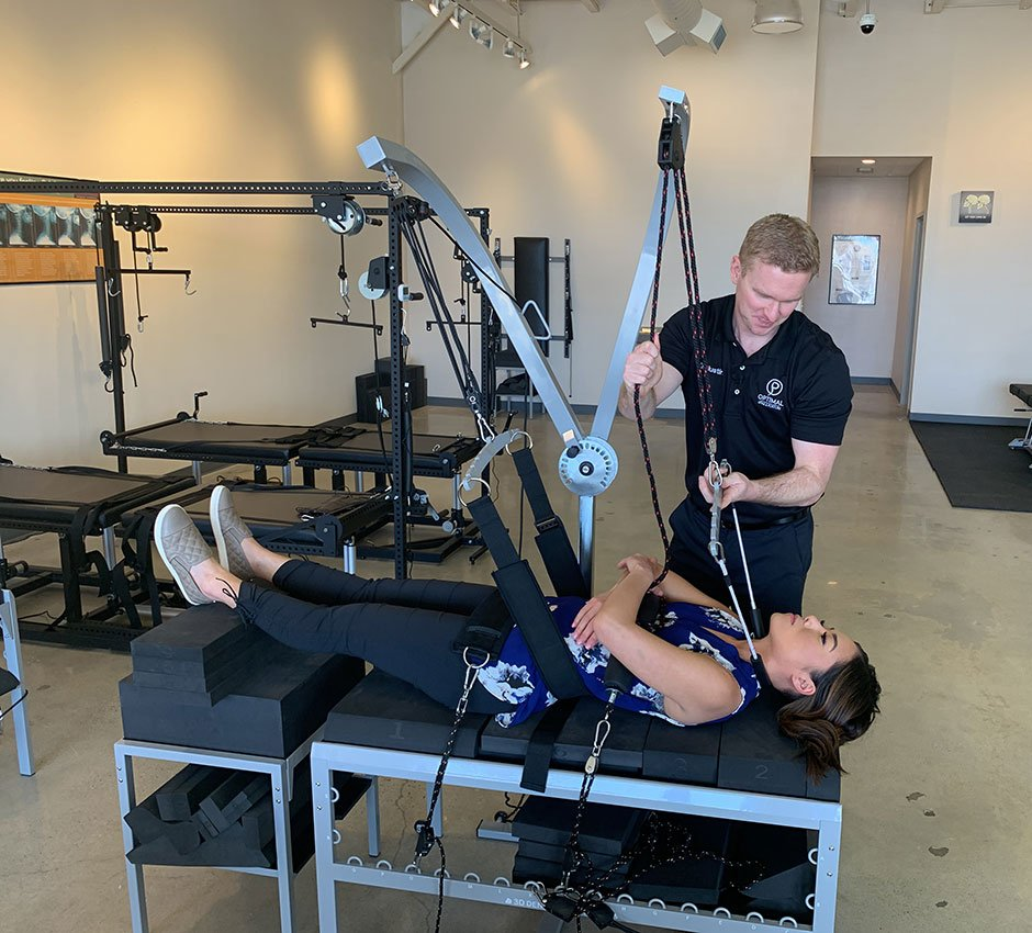 Boise neck pain relief chiropractor and patient